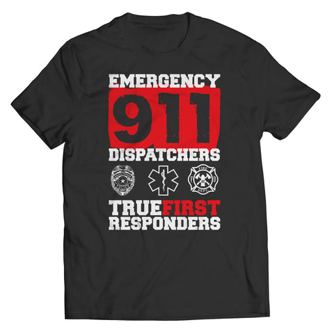 Limited Edition - Emergency 911 Dispatchers True First Responders-Unisex Shirt-slingly-Unisex Shirt-Black-S-Deal Digs