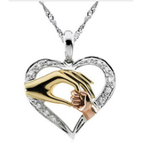 Mom + Child Love Pendant Necklace - Free S&H-Necklace-No.1 Sweater Apparel Co.-Gold-Deal Digs