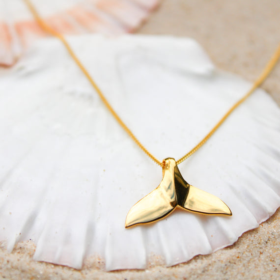 Gold Mermaid Tail Necklace