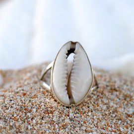 Island Cowrie Ring