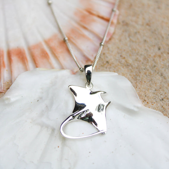 Mantaray Pendant Necklace