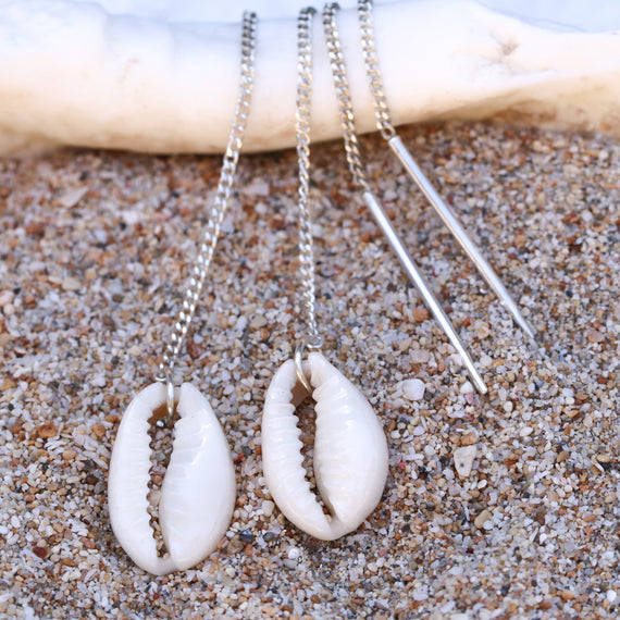 Cowrie Threader Earrings