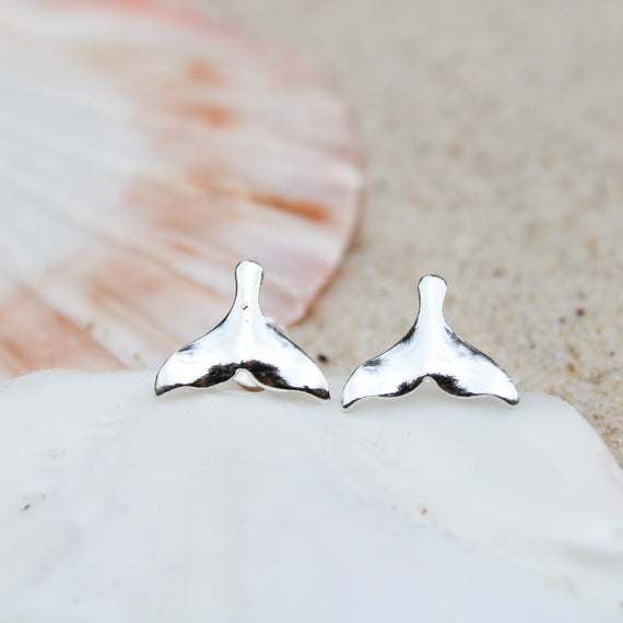 Whale Tail Studs