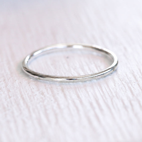 Thin Silver Band Ring