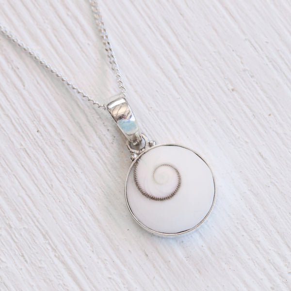 Ocean Swirl Pendant Necklace