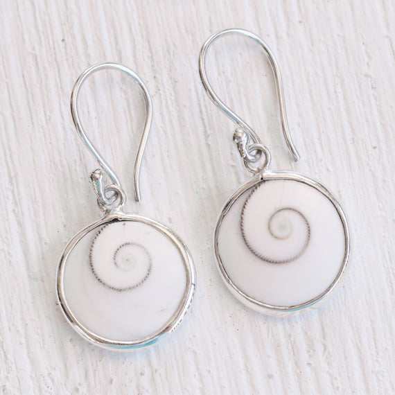 Ocean Swirl Hook Earrings