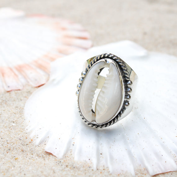 Lighthouse Bay Cowrie Ring