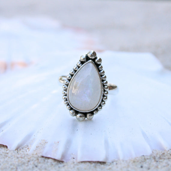 Sunrise Moonstone Ring