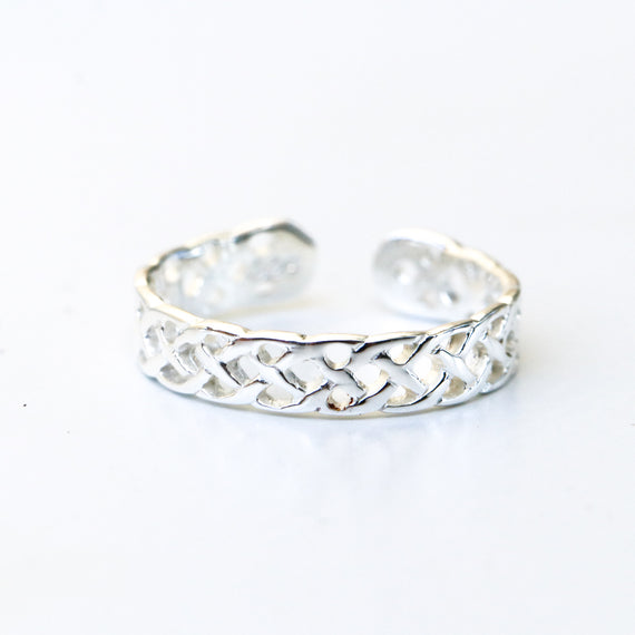 Thick Braided Toe Ring