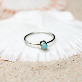 Larimar small ring