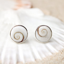 Ocean Swirl Stud Earrings