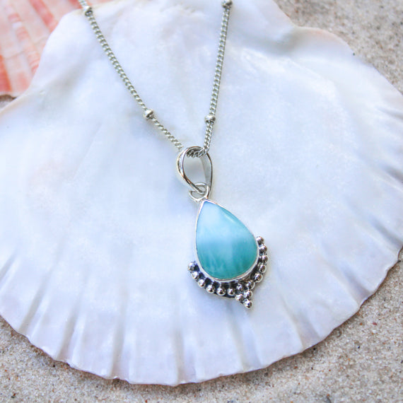 Larimar Mermaid Necklace