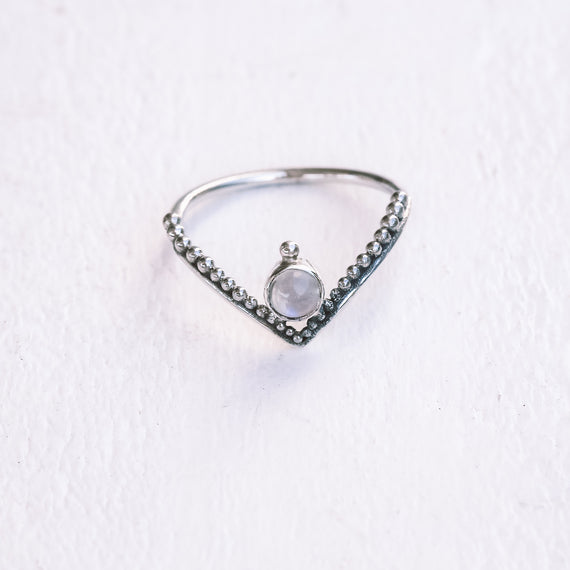 Dainty Moonstone Gypsea Ring