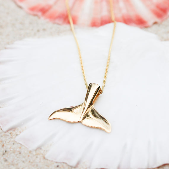 Gold Whale Tail Necklace