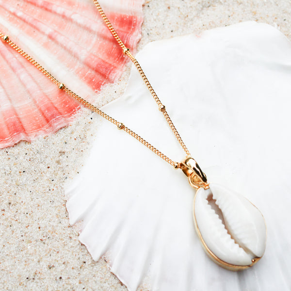 Gold Island Cowrie Necklace