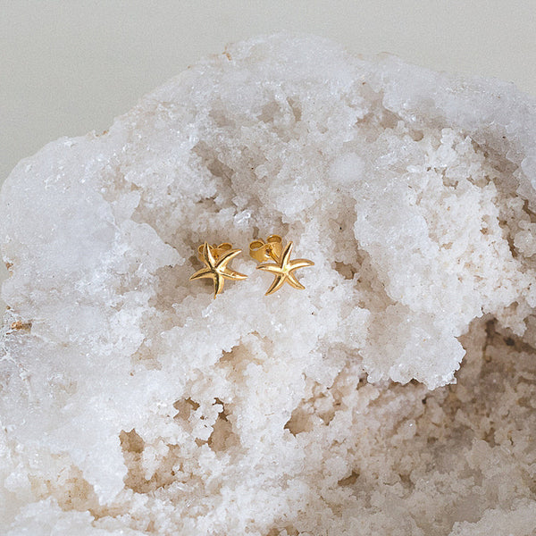 Gold Sea Star Studs