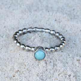 Larimar bubble ring