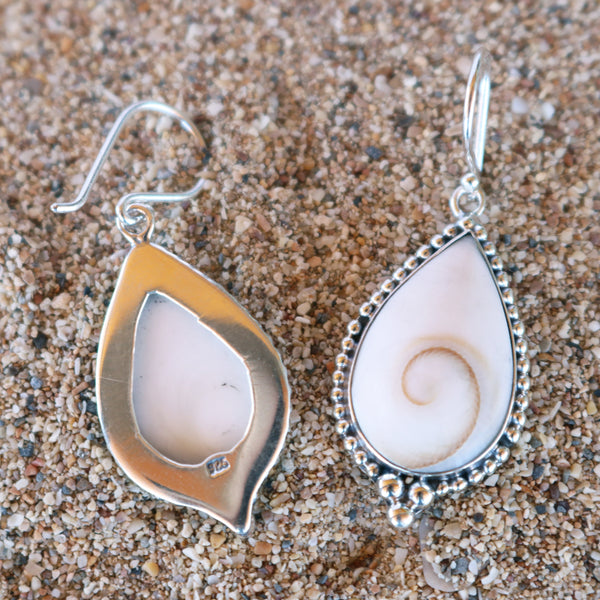 Ocean Swirl Drop Earrings Detailed