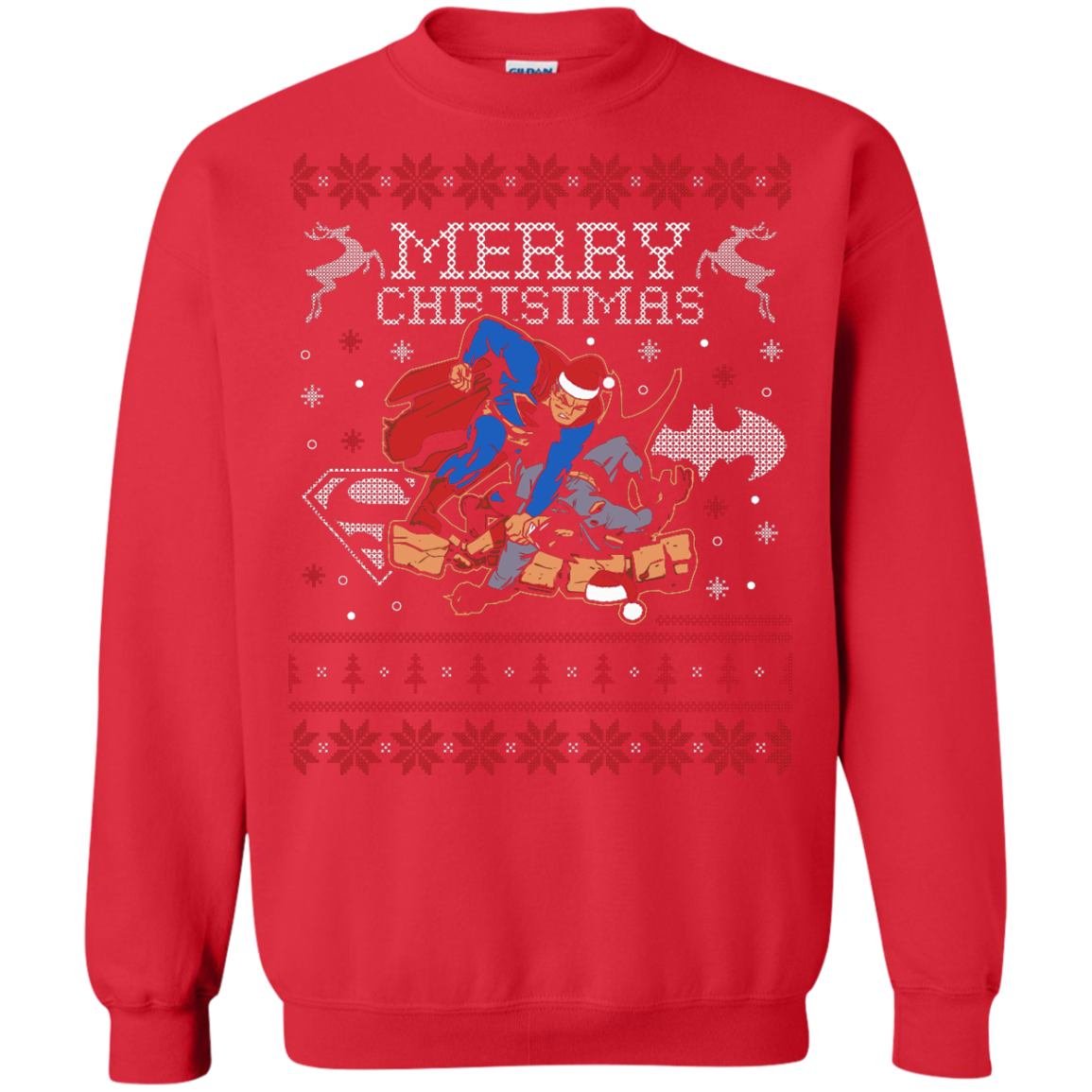 New Superman Smash Batman Ugly Sweater
