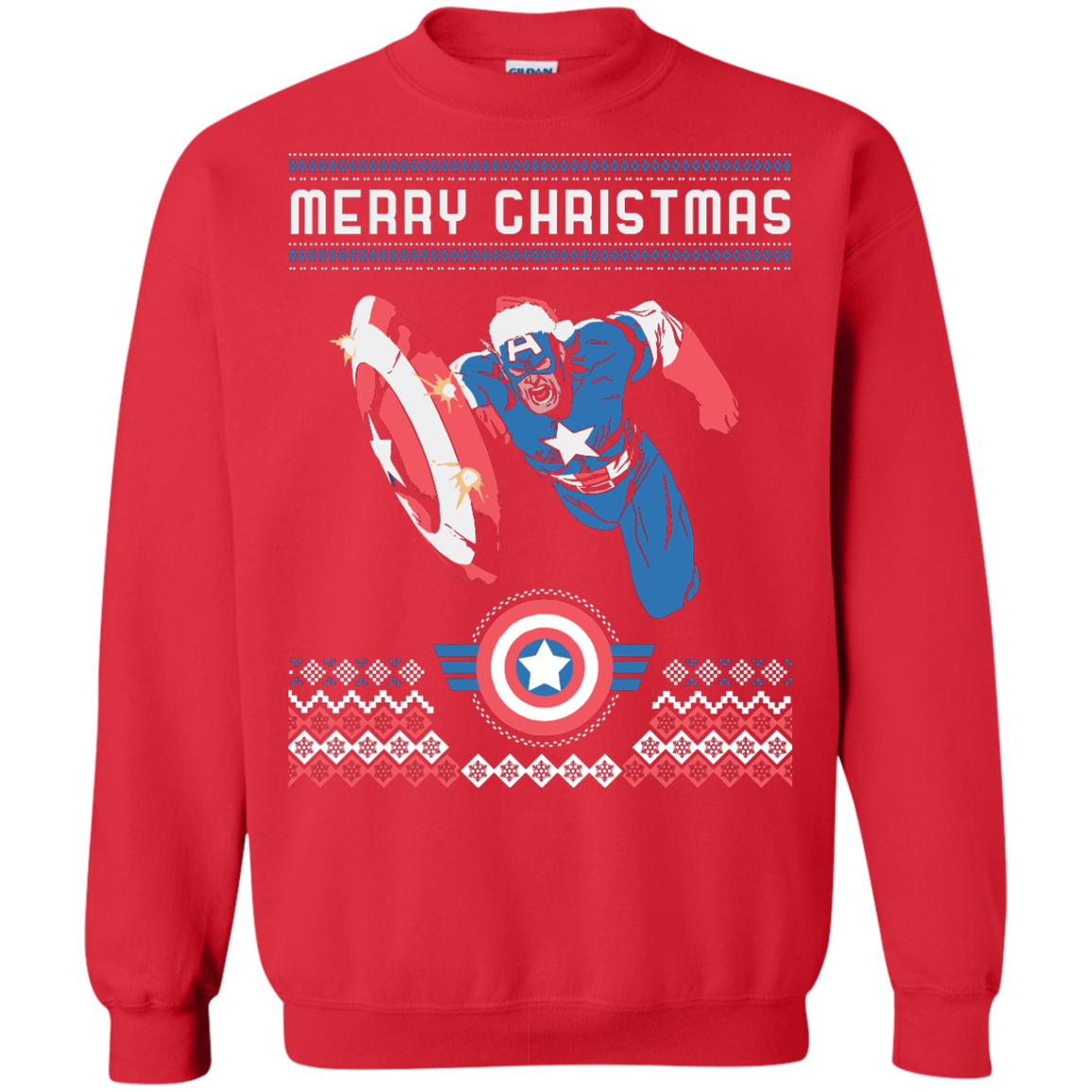 New Captain America Ugly Sweater