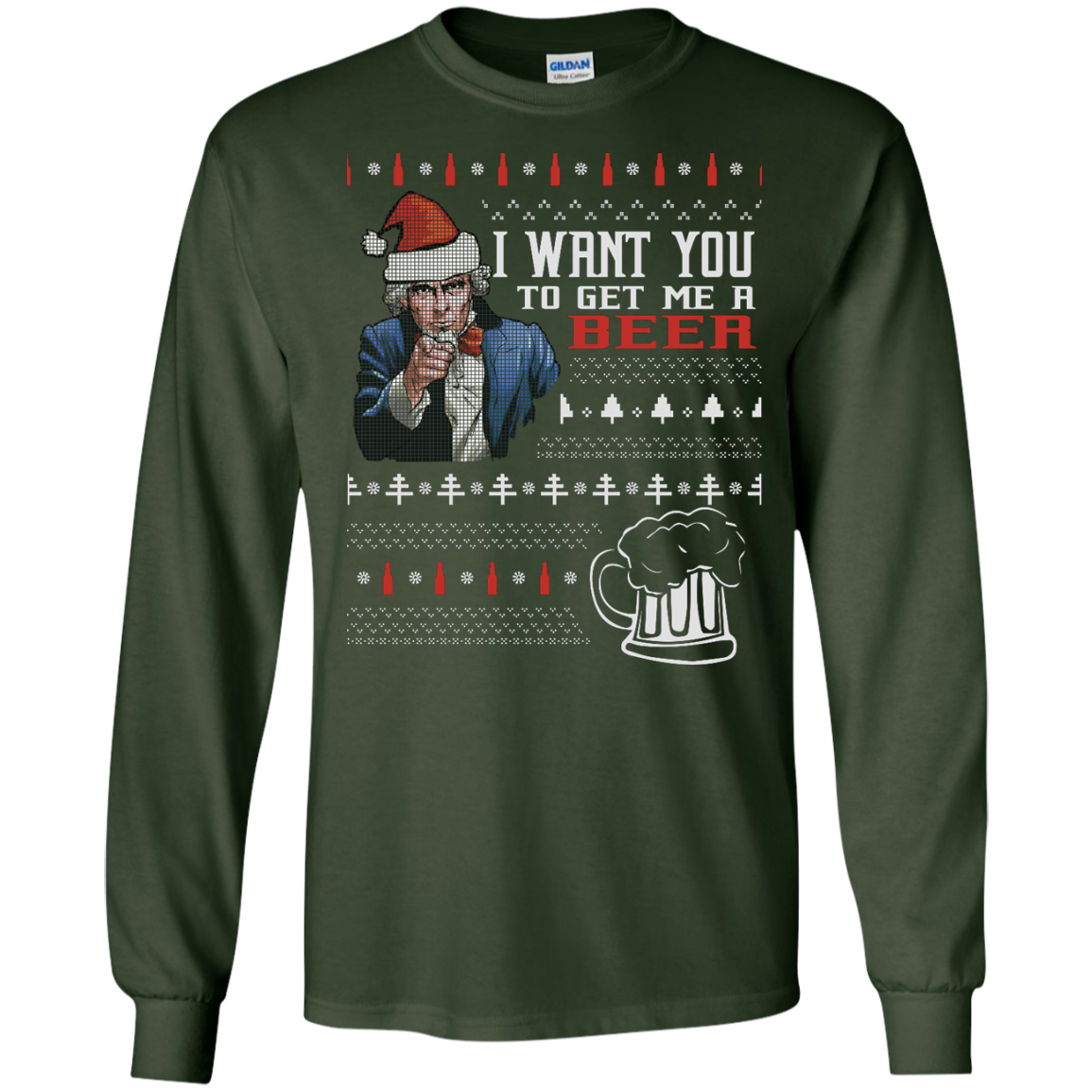 I Want You To Get Me A Beer Ugly Sweater