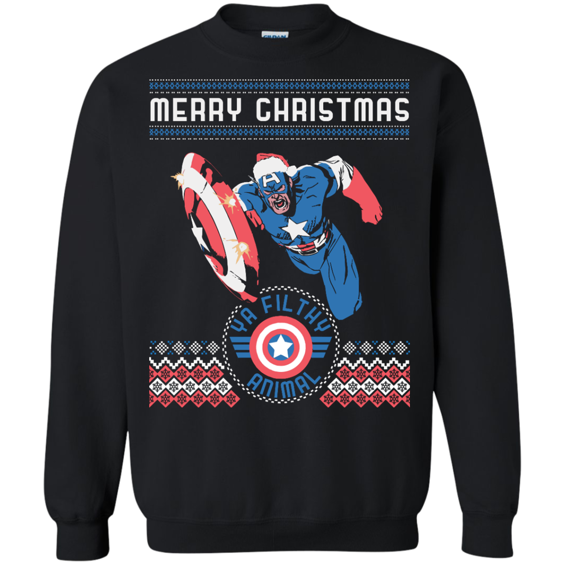 Captain America Ugly Sweater Swag Up Now