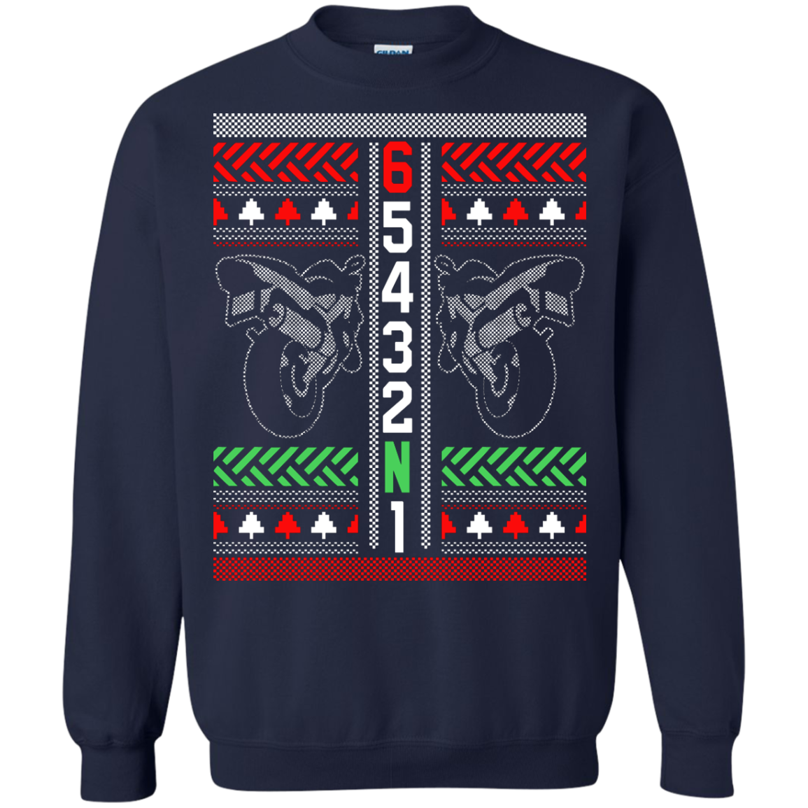 Moto Gears Ugly Sweater
