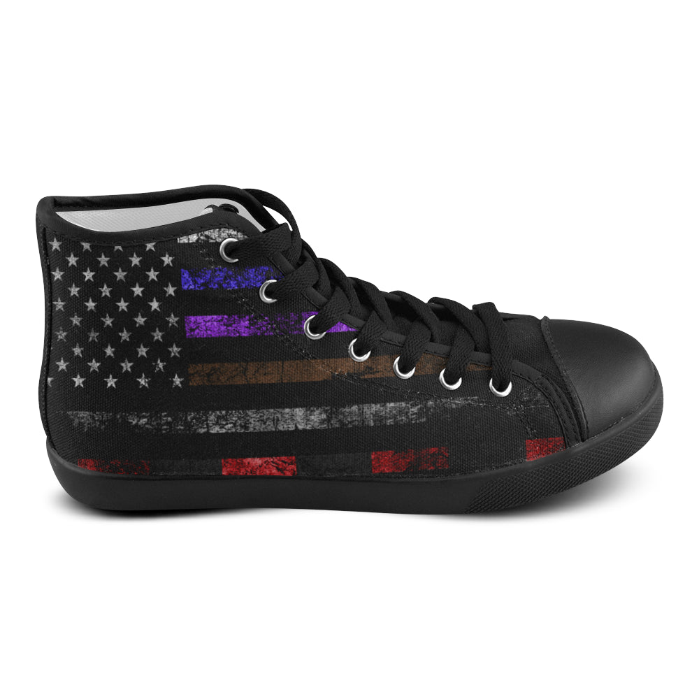 Womens Jiu Jitsu ALL Belt Flag Shoe