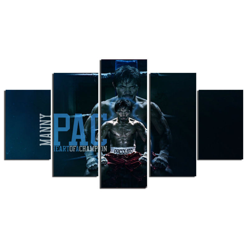 Blue Pacquiao Poster