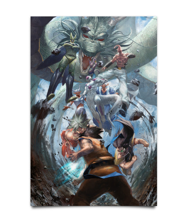 DBZ Fighting Villains Poster