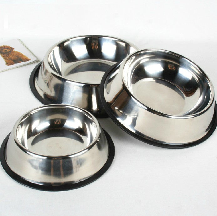 1 x Stainless Steel Standard Dog Bowl