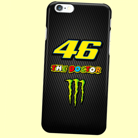 "V. Rossi ""46 THE DOCTOR"" iPhone 4, 4S, 5, 5S, 5C, 6, 6S, 6 Plus, 6S, 7, 7 Plus Custom Case"