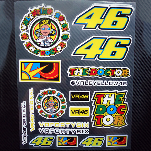 "V. Rossi "" 46 THE DOCTOR"" Stickers - 18 Sticker Graphics"