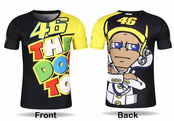 "V. Rossi ""46 THE DOCTOR"" Quick-Dry Fan Art T-Shirt"