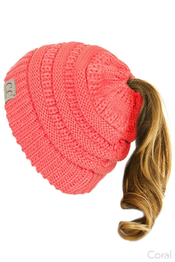 Ponytail Kid s Hats - Coral - SEYYES CLOTHING 93353db8a516
