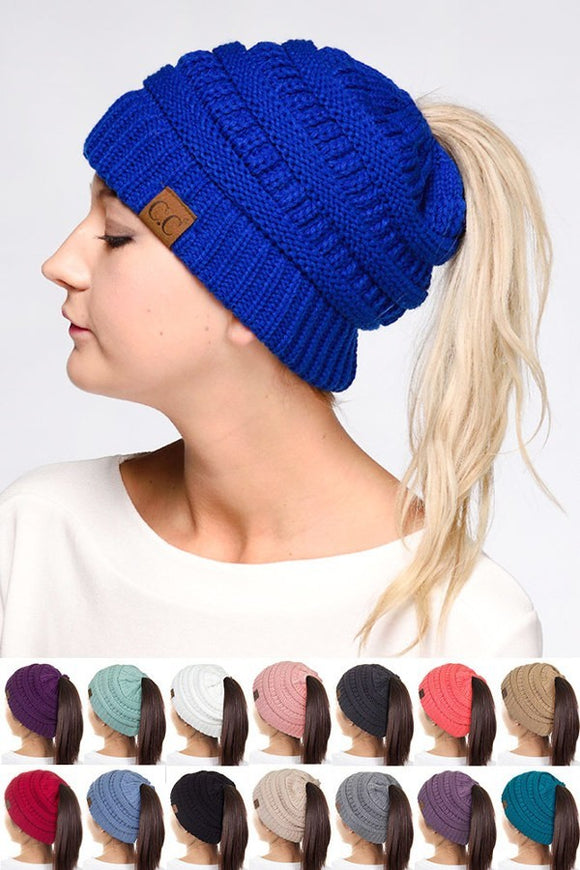 Messy bun ponytail beanie - Dark grey 0775e5bba63e