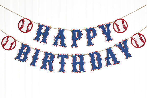 Baseball Birthday Banner