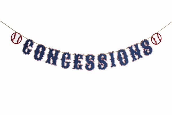 Baseball Birthday Banner - Concessions