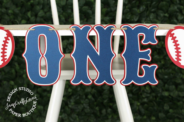 Baseball Highchair Banner