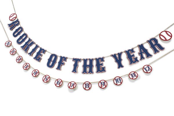 Baseball Birthday Banner Rookie Of The Year