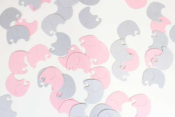 Pink Elephants Baby Shower Embellishment
