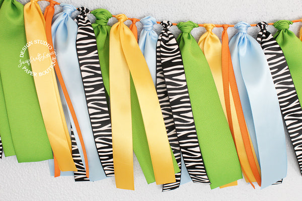 Jungle Safari First Birthday Highchair Banner - 30 inches