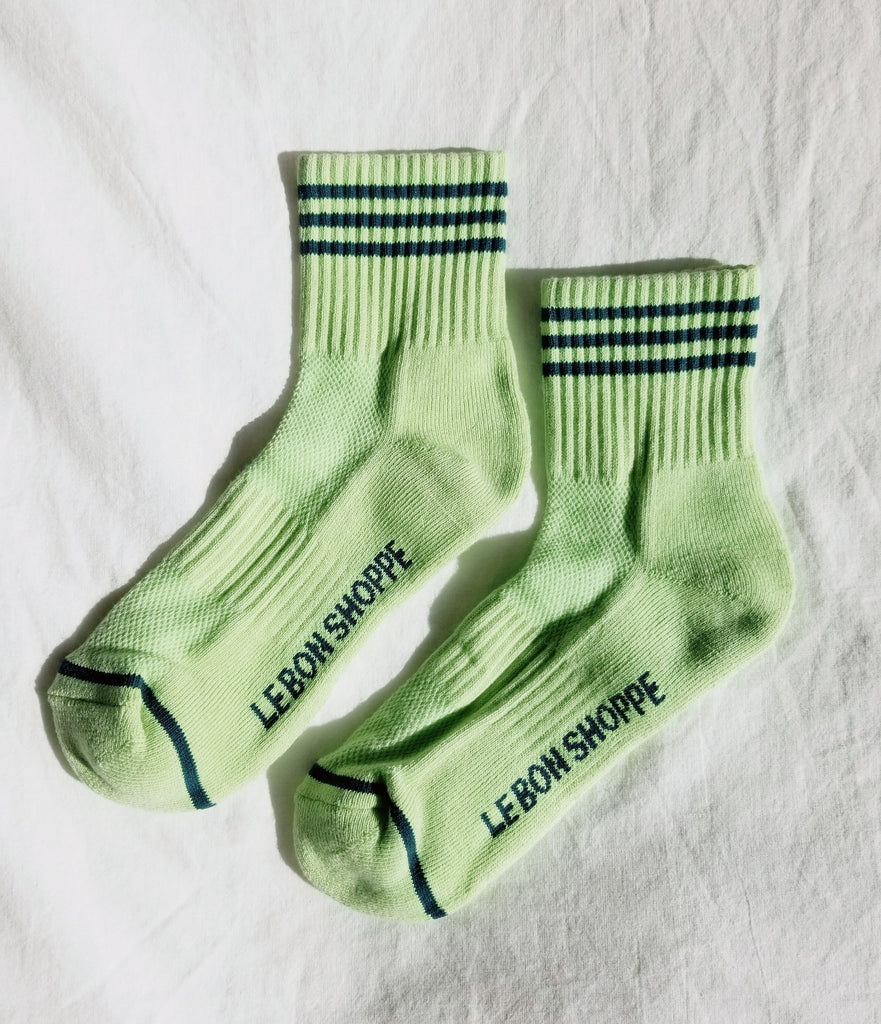 Girlfriend Socks in Pistachio