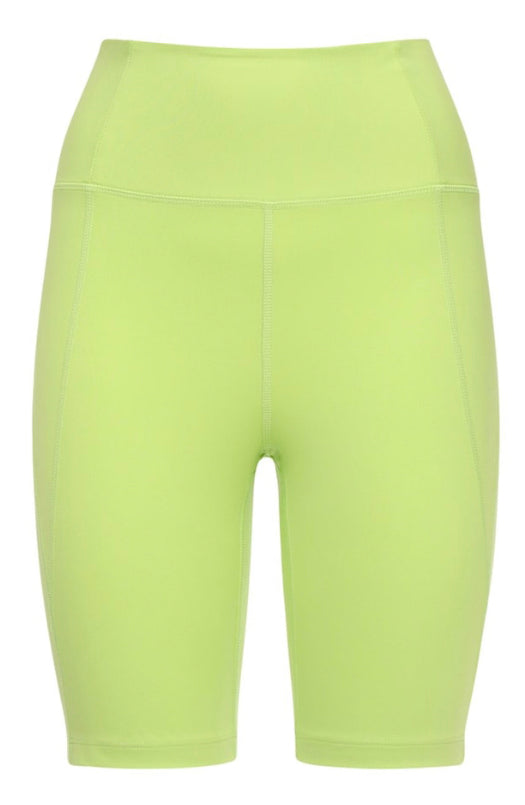 High Rise Bike Shorts in Lime