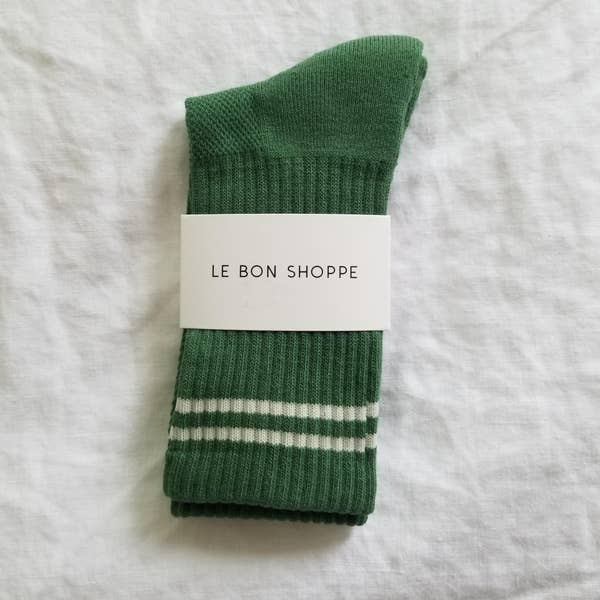 Boyfriend Socks in Moss Green