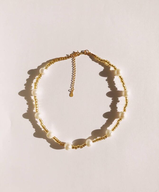 Miel Pearl Mix Necklace