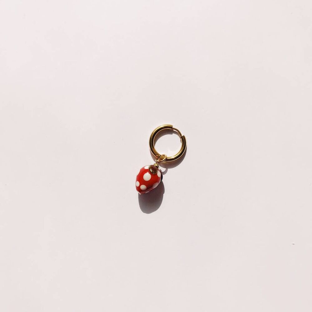 Strawberry Single Earring