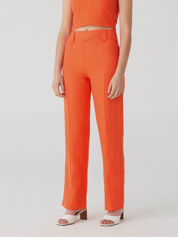 Dolar Pants in Orange Red