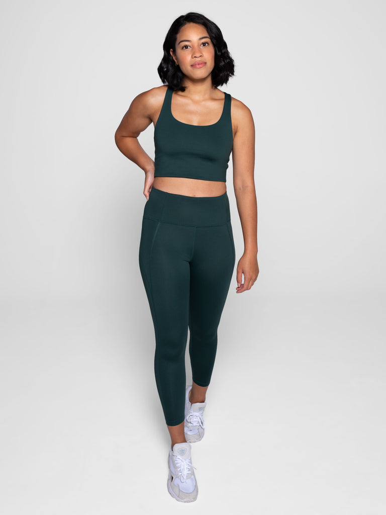 High Rise Classic Compressive Leggings in Moss
