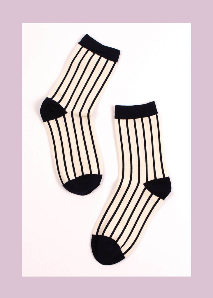Barcode Striped Socks